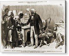 In 1877 Frederick Douglass 1818�1895 Acrylic Print by Everett
