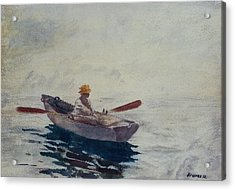 In A Boat Acrylic Print by Winslow Homer