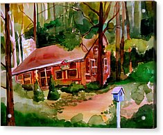 In A Cottage In The Woods Acrylic Print by Mindy Newman