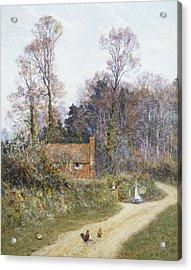 In A Witley Lane Acrylic Print by Helen Allingham