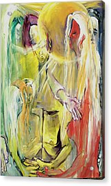 Acrylic Print featuring the painting In And Out Of Spiritual Confusion by Kenneth Agnello