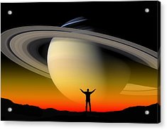 In Awe Of Saturn Acrylic Print