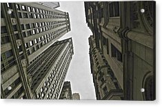 In Between Skyscrapes Acrylic Print by Malin Andersson