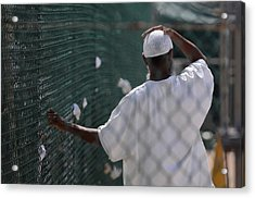 In Camp Delta Prison At Guantanamo Bay Acrylic Print by Everett