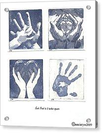 In His Hands Acrylic Print by Amanda McIntyre