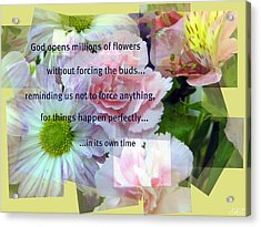 Acrylic Print featuring the photograph In Life's Own Time by Michelle Frizzell-Thompson