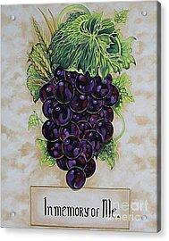 In Memory Of Me Acrylic Print by Kimberlee  Ketterman Edgar