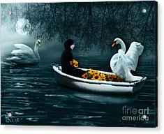 Acrylic Print featuring the digital art In Santa Pace Maiden by Rosa Cobos