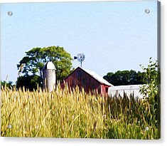 In The Farmers Field Acrylic Print by Bill Cannon
