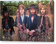 In The Field The Beatles Acrylic Print by Sandra Ragan
