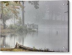 In The Fog Acrylic Print by Barry Jones