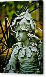 In The Garden Acrylic Print by Christopher Holmes