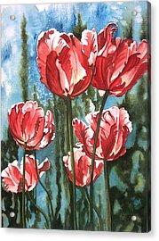 In The Garden Acrylic Print by Karen Casciani