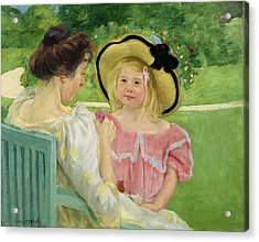 In The Garden Acrylic Print by Mary Stevenson Cassatt