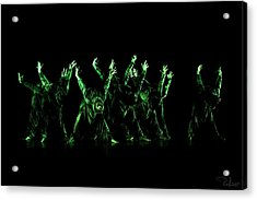 In The Green Light Acrylic Print by Raffaella Lunelli