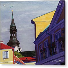 In The Heart Of Tallinn Acrylic Print by Alan Mager