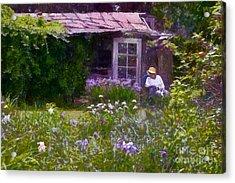 In The Iris Garden Acrylic Print by Susan Isakson