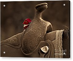 In The Saddle Acrylic Print by Susan Candelario