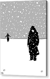 In The Snow Acrylic Print by Giuseppe Cristiano