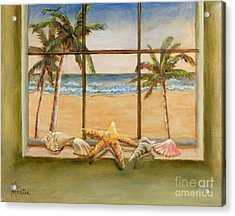 Acrylic Print featuring the painting In The Tropics by Vic  Mastis