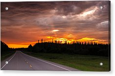 In To The Sunset Acrylic Print