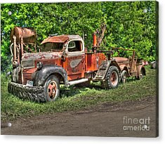 In Tow Acrylic Print by Jimmy Ostgard