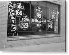 In Washington, D.c. A Used Automobile Acrylic Print by Everett