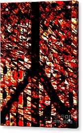 Inappropriate Oppressive Peace Acrylic Print by Robert Haigh