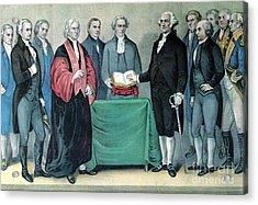 Inauguration Of George Washington, 1789 Acrylic Print by Photo Researchers