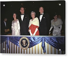 Inauguration Of Lyndon Johnson. Lady Acrylic Print by Everett