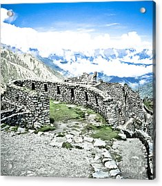 Inca Observatory Ruins Acrylic Print by Darcy Michaelchuk