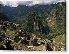Inca Ruins At Machu Picchu Are Biggest Acrylic Print by Gordon Wiltsie