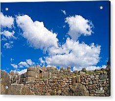 Inca Ruins Acrylic Print by Nicolas Raymond