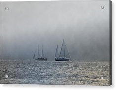 Incoming Fog Bank Acrylic Print by Bill Cannon