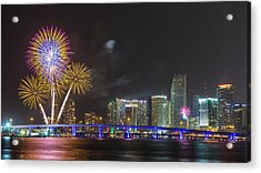 Independece Day Fireworks Acrylic Print by Claudia Domenig