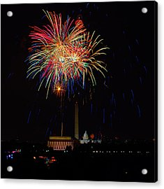 Independence Day In Dc 2 Acrylic Print by David Hahn