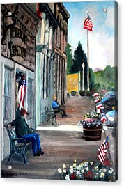 Independence Day Acrylic Print by Rebecca Grice