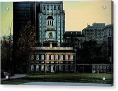 Independence Hall - The Cradle Of Liberty Acrylic Print by Bill Cannon