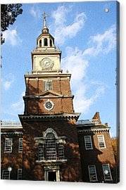 Independence Hall Acrylic Print by Rick Thiemke