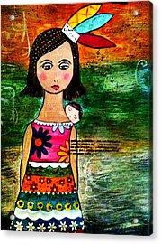 India Con Bebe Acrylic Print