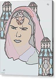 India Royalty Acrylic Print by Belinda Threeths