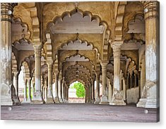 India, Uttar Pradesh, Agra, Agra Fort, Hall Of Public Audience Acrylic Print