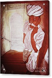 India White Cloth The Seasoning Of Peace Acrylic Print