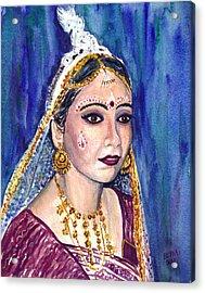 Indian Bride  Acrylic Print by Clara Sue Beym