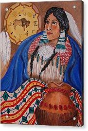 Indian Bride Acrylic Print by Janna Columbus