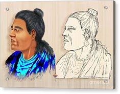 Indian Chiefs Acrylic Print by Vidka Art