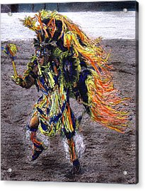Indian Dancer Acrylic Print by Randy Sprout