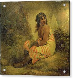 Indian Girl Acrylic Print by George Morland