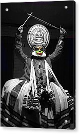 Indian Kathakali Dance Of Kerela 2 Acrylic Print by Sumit Mehndiratta