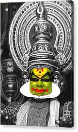 indian kathakali dance of Kerela Acrylic Print by Sumit Mehndiratta
